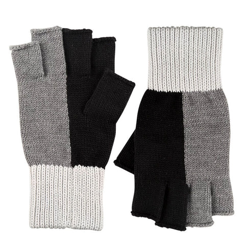 Polder Fingerless Gloves Black/Grey