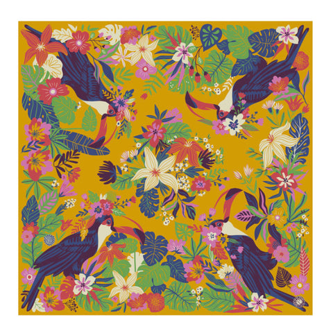 Satin Square Toucan Scarf