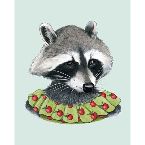 Berkley Illustration: Print - raccoon lady