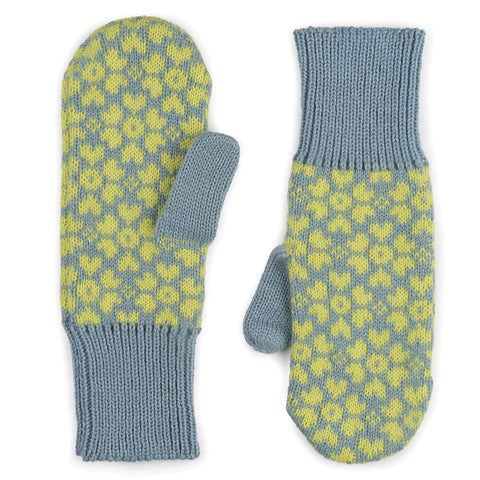 Sakura Mittens Stone Blue/Yellow