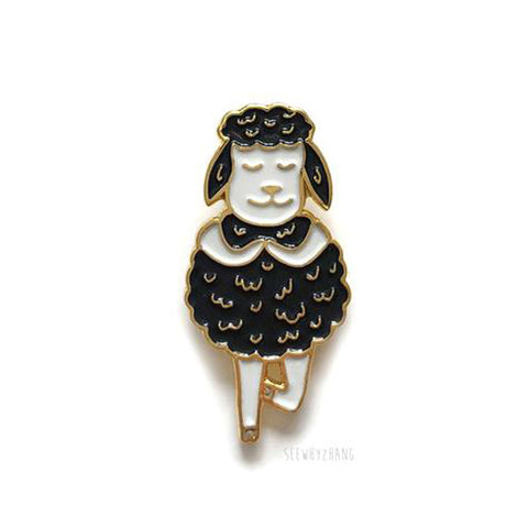 Black Sheep Tree Pose Pin