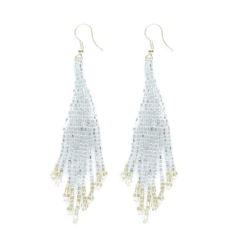 "Small Fringe Silver/Gold 3.75"" Earrings"