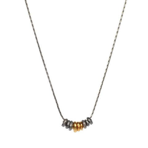 Hill Tribe Silver & Gold Necklace