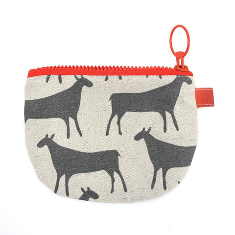 Small Zip Pouch Herds Grey