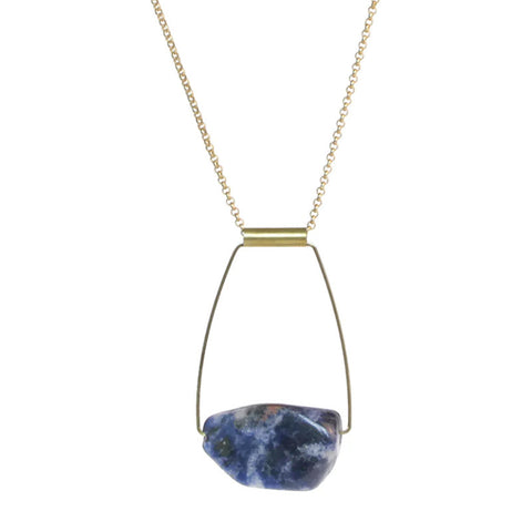 design helenka product sodalite braziliansodalitebust necklace white
