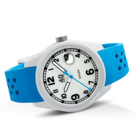 Spartan Watch 43mm Light Blue Band