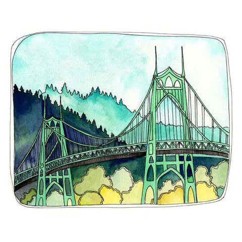 St Johns Bridge 8x10 Print