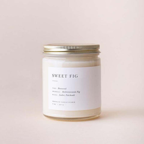 Sweet Fig Minimalist Jar Candle