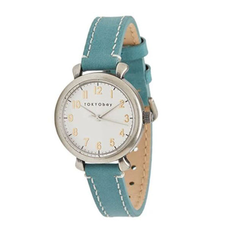 Frankie Leather Watch: Teal