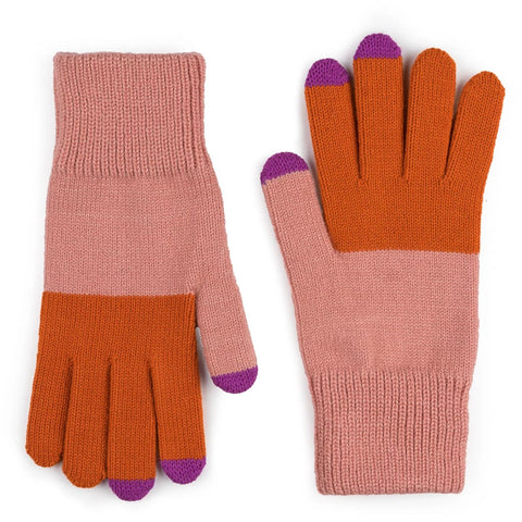 Touchscreen Gloves Coral Pink