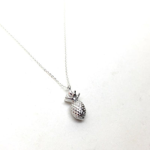 Pineapple silver necklace
