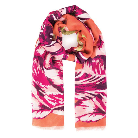 Tulip Scarf: Burnt Orange