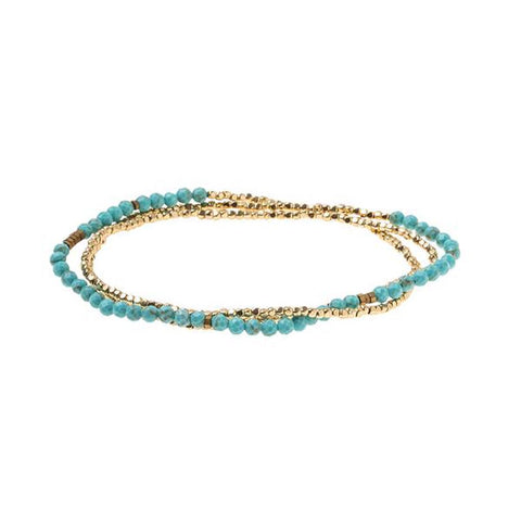 Delicate Stone Bracelet Turquoise/Gold