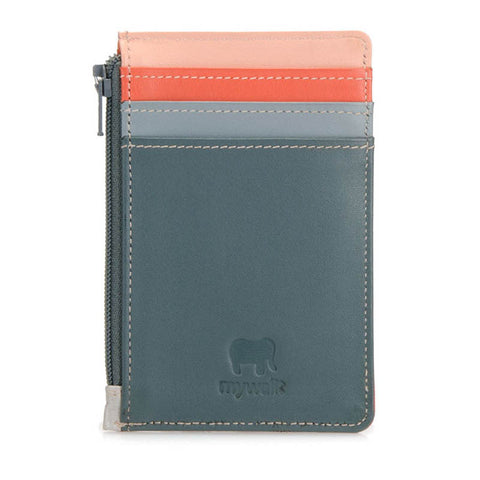 Credit Card Holder with Coin Purse urban sky