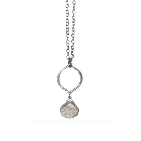 Tamara Gemstone Necklace: Silver & Labradorite
