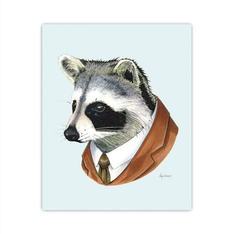 Raccoon Gentleman 8 x 10 print