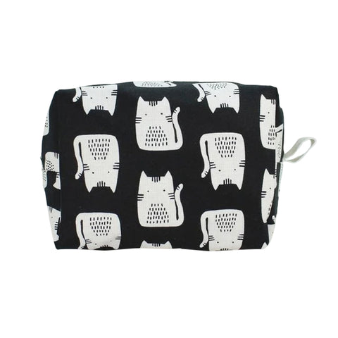 Large Dopp Bag Black Cat