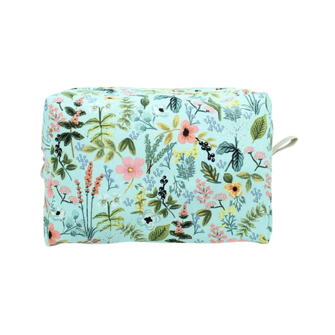Large Dopp Bag Turquoise Floral