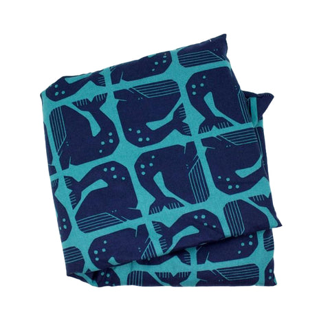 Large Lavender Heat Wrap Navy Whale