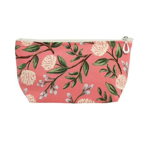Small Cosmetic Bag Coral Peony