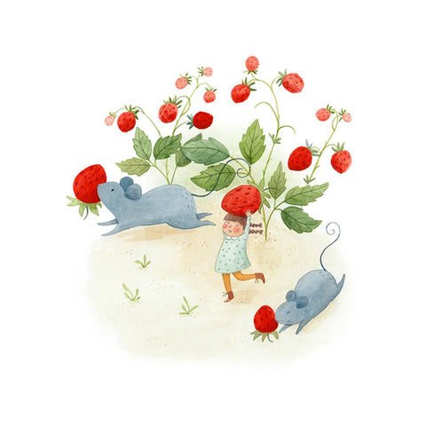 Strawberry Thieves Print