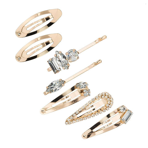 Micro Stackable Gold Barrettes (7 pcs)