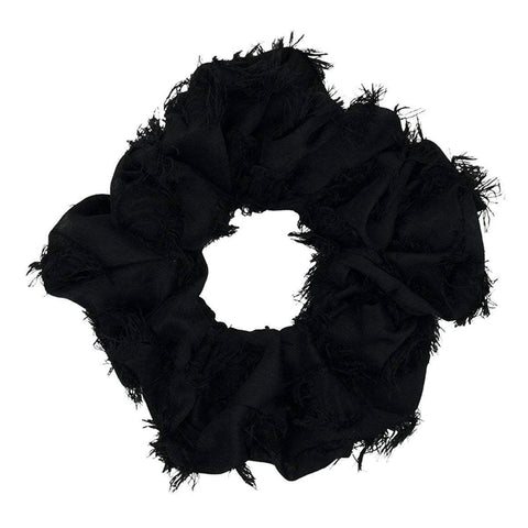 Brunch Scrunchie: Frayed Black