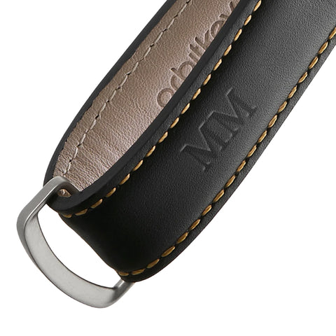 Leather Key Fob (Black/Tan)