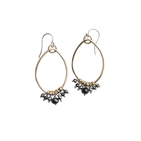 Hoop Earrings Noir Mix