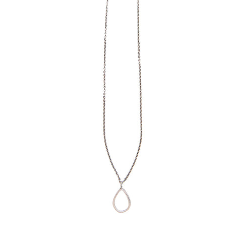 Small Teardrop Necklace Silver