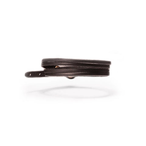 Byway Leather Bracelet Skinny Black