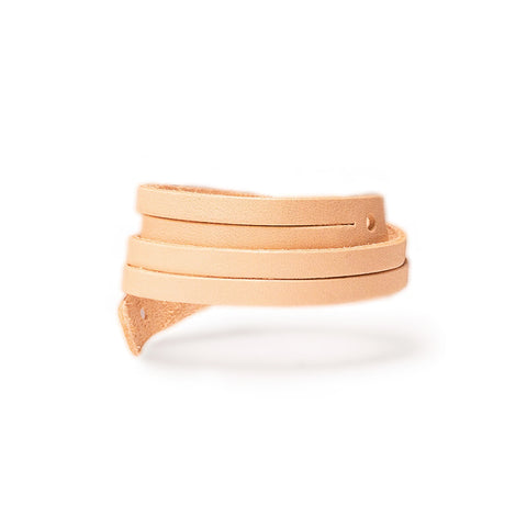 Byway Leather Bracelet Wide Natural
