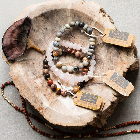 Stone Stacking Bracelet Mexican Onyx