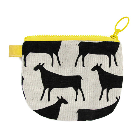 Small Zip Pouch Herds Black