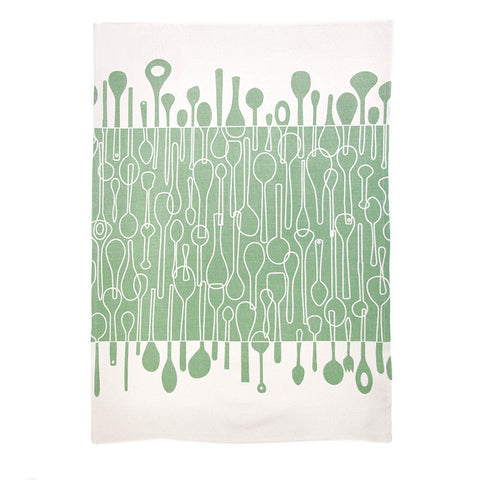 TEA TOWEL: Borrowed Spoons Spruce