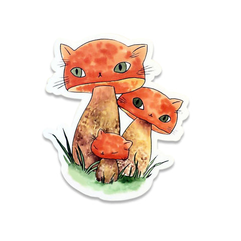 STICKER: Meowshrooms Boletes by Stasia Burrington