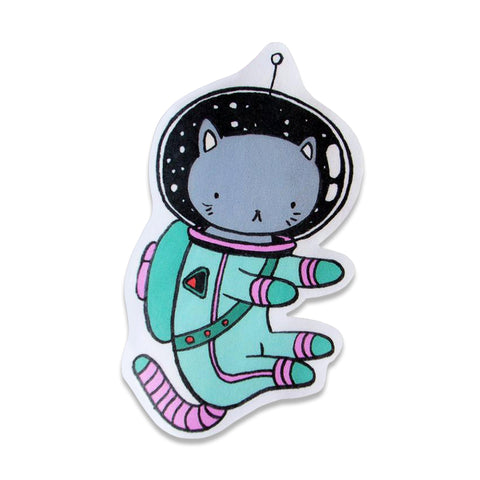 STICKER: Space Cat by Stasia Burrington
