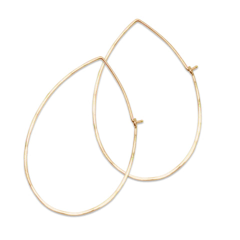 Classic Hoops Teardrop Large Gold
