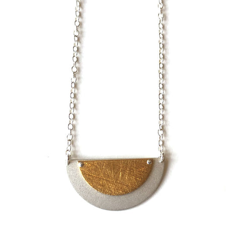 Layered Half Disc Necklace
