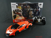 Remote Control Transforming Lamborghini Veneno Roaster Robot and Sports Car with light and sound Lamborghini (Silver or Red)