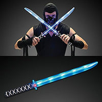 "24""Deluxe Ninja LED Light up Sword with Motion Activated Clanging Sounds (2pc) (US Seller)"