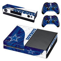 NFL Vinyl Skin Decals Cover for Xbox One Console With Two Wireless Controller Decals - Dallas Cowboys