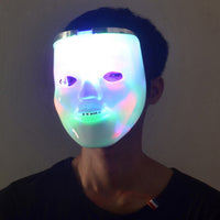 2 in 1 Flashing LED Light Up Skull Mask Skeleton Halloween Rave Party Favor