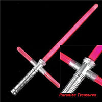"27.5"" Light Up Light Saber Star Cross Sword With Realistic Sounds and Charge Effects(RED)"