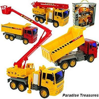 2 Piece Friction Powered Construction Toy Trucks set-Truck Styles vary