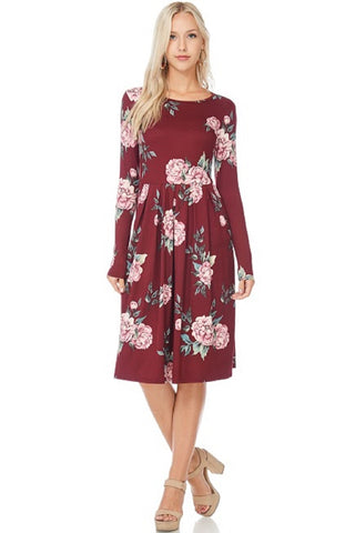 Summer Wine Floral Pleated Dress