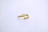 925 sterling silver double color personality branch opening ring