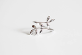 925 sterling silver tree branch open adjustable ring