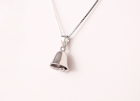 925 sterling silver cute little bell necklace