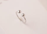 925 sterling silver open adjustable ring Women's silver ring for gift